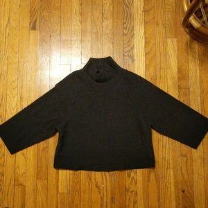 Madewell Texture & Thread Black Mock Neck Top